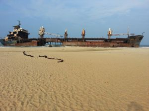 Wreck Of MV Farrah III, Mullaitivu Area (since Destroyed)